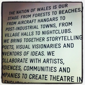 A Whole Way of Life* my play for National Theatre Wales